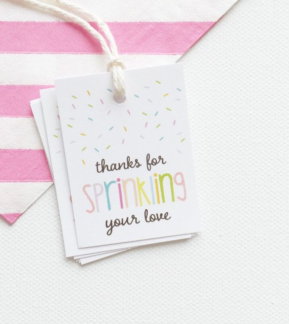 Baby Shower Favor. Sprinkled With Love Shower by PrintSmitten