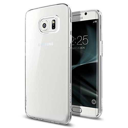 Galaxy S7 Edge Case Spigen [Liquid Crystal] Ultra-Thin [Crystal Clear] Premium Semi-transparent / Exact Fit / NO Bulkiness Soft Case for Samsung Galaxy S7 Edge (2016)  (556CS20032)