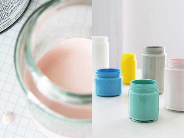 colorful jars diy from Bambula blog