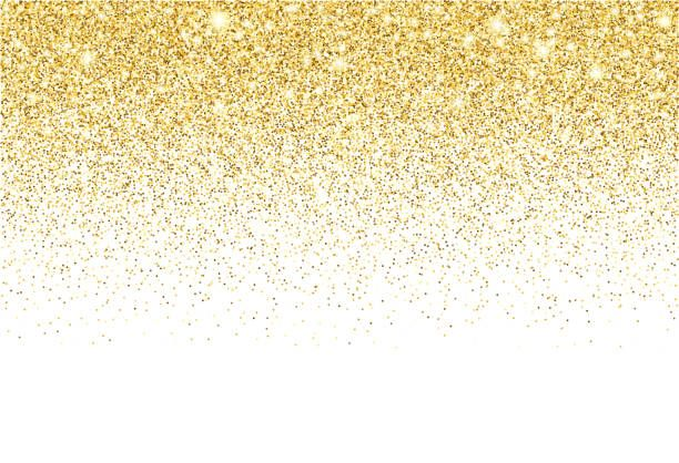 Gold Colored Vector Circles And Shiny Star Reflections Illustrating A Gold Glitter Background Texture Vector Glitter Background