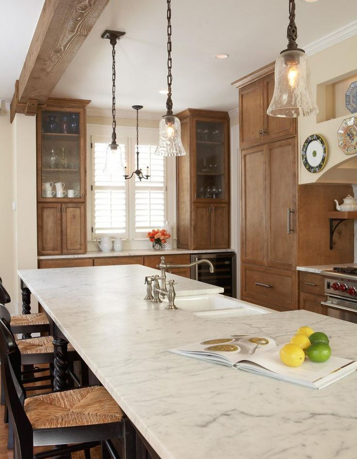 Rustic Kitchen Light Stained Cabinets | TheBestWoodFurniture.com