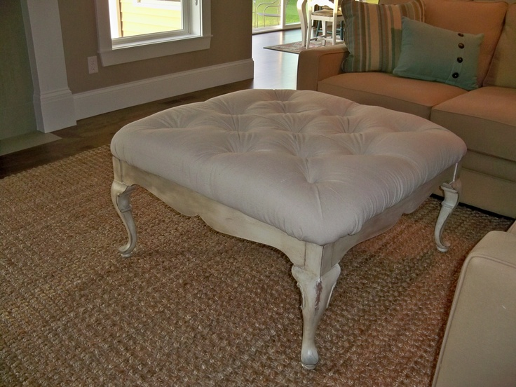 Home made ottomans and diy and crafts on pinterest for Coffee tables homesense