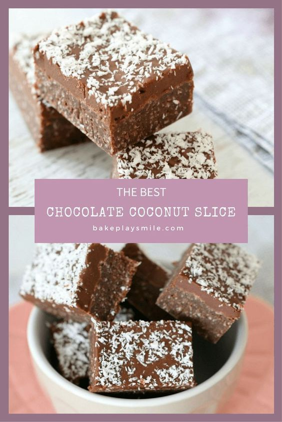 The MOST POPULAR CHOCOLATE COCONUT SLICE!!!!  This is an old family favourite... and it's SO simple to make! Who doesn't love a yummy chocolate slice?!