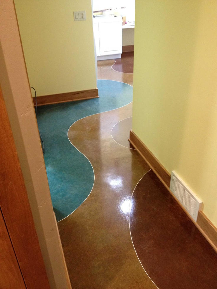Stained concrete interior floor home decor pinterest for Stained concrete inside house