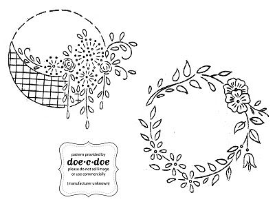 floral circular #embroidery pattern