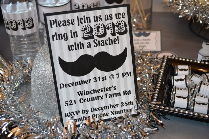 {Whimsical Feature} New Years Eve Mustache Bash