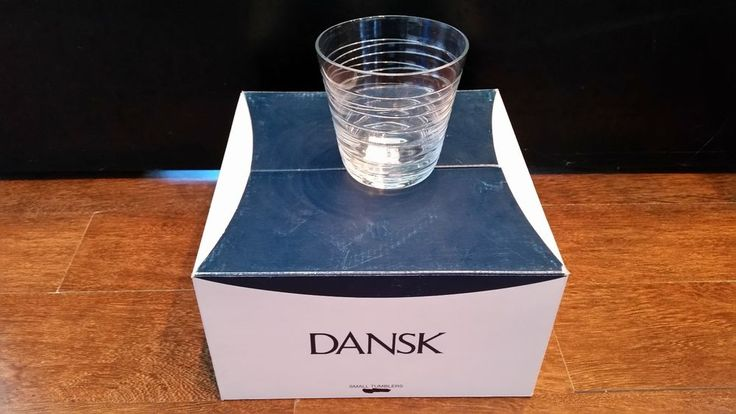 Dansk Modern Casual Glassware Tronada Tumbler / Glass Small SET OF 4 NEW IN BOX