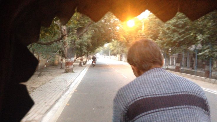 Taking a cycle rickshaw in Agra. Helping one man's small business; not ruining the environment and taking advantage of Agra's quieter roads! #cycle #travel #ecotravel #cyclerickshaw #agra