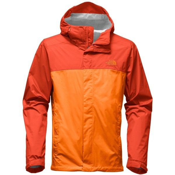 The North Face Men's Venture Waterproof Jacket ($99) ❤ liked on Polyvore featuring men's fashion, men's clothing, men's outerwear, men's jackets, orange, mens jackets, mens windproof jacket, the north face mens jackets and mens waterproof jackets