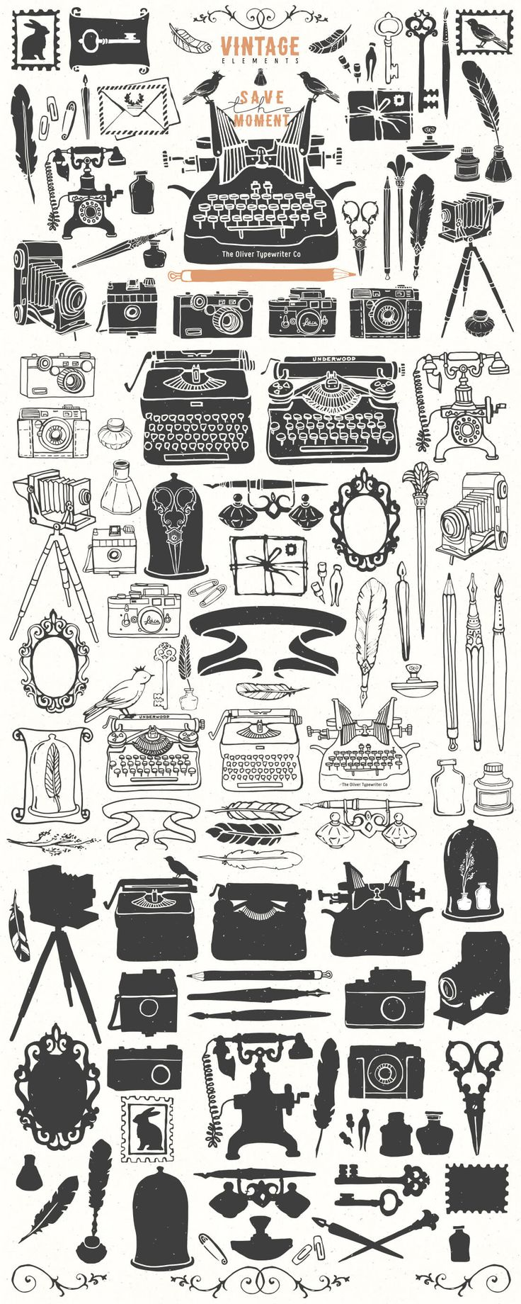 Mega bundle of 700 hand drawn graphic elements only 24 mightydeals
