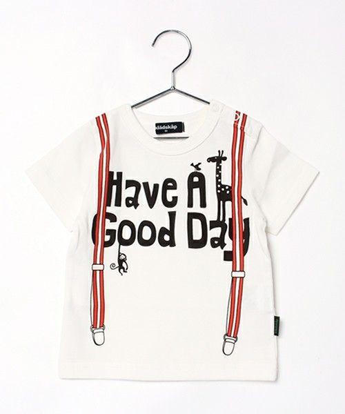 kladskap(クレードスコープ)の【WEB限定品】サスペンダープリント半袖Tシャツ(Tシャツ/カットソー) オフホワイト