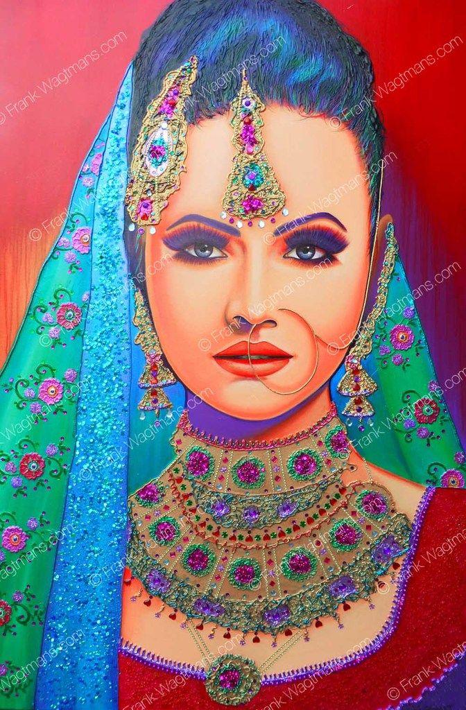 Modern schilderij Princess of Dehli