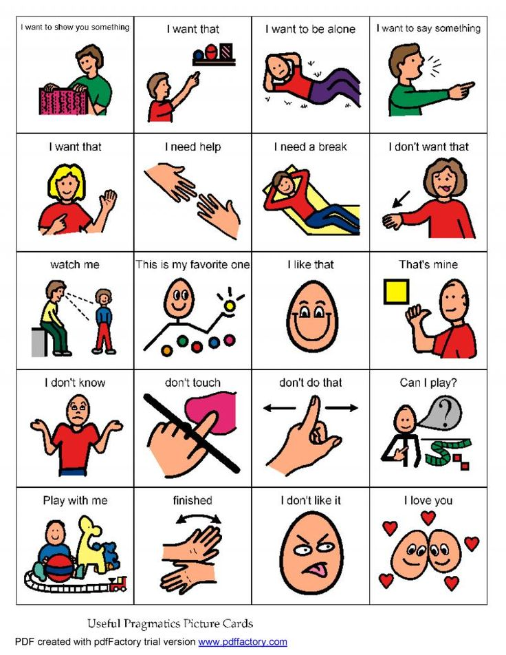 """Need to teach: Pragmatic Language Board These are important phrases for your child to learn, and can minimize his frustration as he tries to communicate his needs. If he is non-verbal, teach him how to point to the card or image on a board, especially the """"I need a break"""" card! Pinned by www.preschoolspeechie.com"""