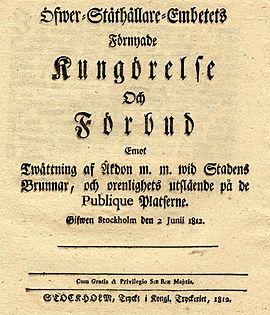 Kungörelse 1833