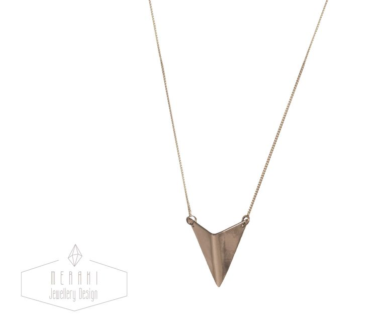 Sterling silver arrow necklace www.merakijewellerydesign.com