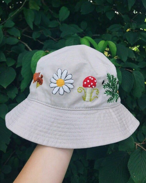 Custom Embroidered Bucket Hat Outfits With Hats Embroidered Hats Hat Embroidery
