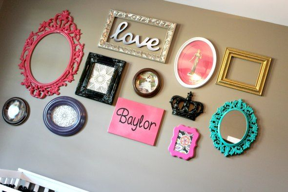 baby girl room ideas decorating picture wall