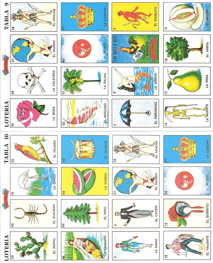Thrifted Loteria Cards Scrapbook Misc. Free Printables