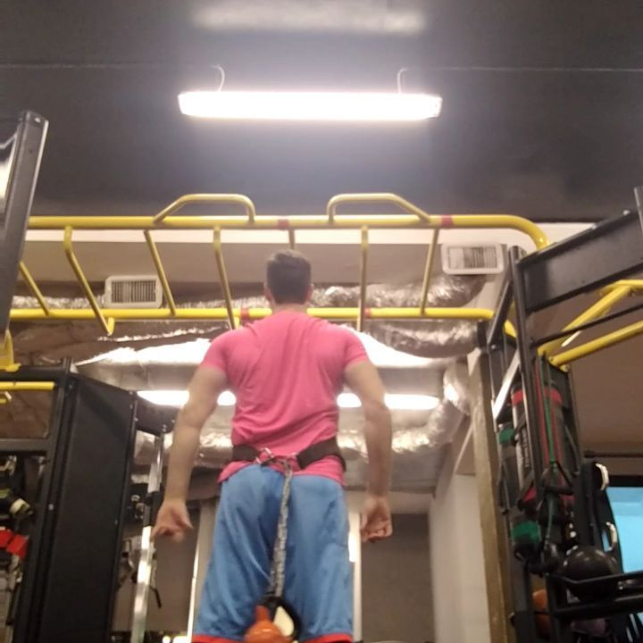 Want a #smarter way to do #weightedpullups  and #weightedchinups  to maximize your #gainz and be a little kinder to your #back?  Not only can you take the shearing force off of your spine but also place the weight in a more natural position for the #pelvis and keeping your body in a more natural alignment and allowing your #upperbody #mechanics to be much better....but be prepared as the same weight you did with the #weights in the front will be a bit more challenging! . . . Looking for a…