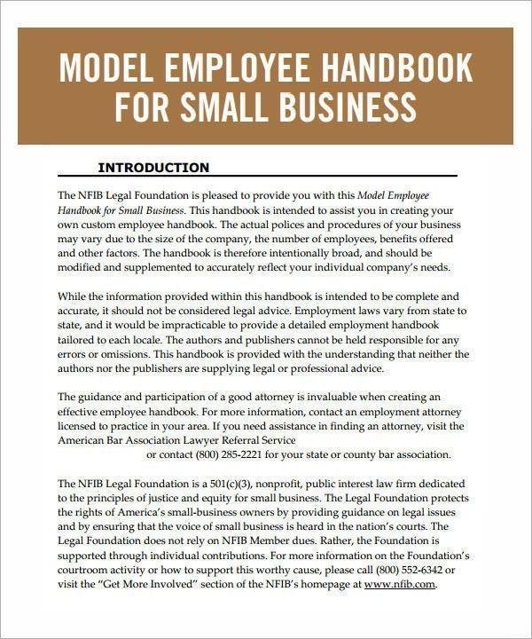Free Employees Handbook Template Proper Employee Handbook Template 6 Free Pdf Doc Download Of Employee Handbook Template Employee Handbook Employee Management