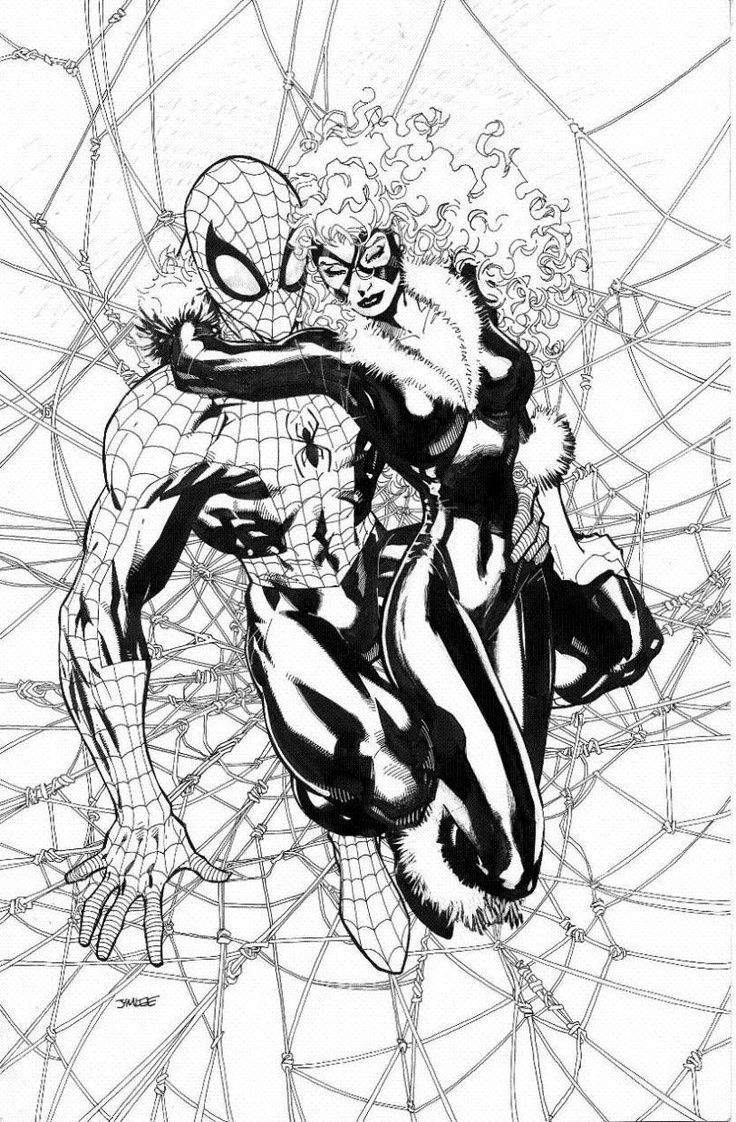 black cat spiderman coloring pages - photo#43