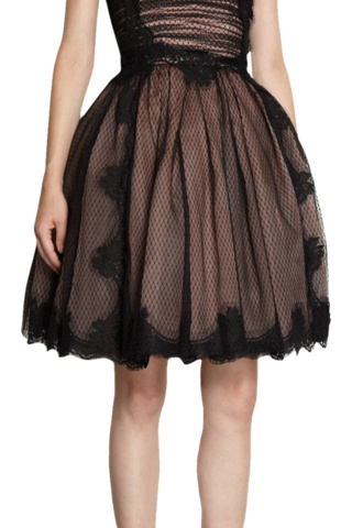 Net And Floral Lace Dress