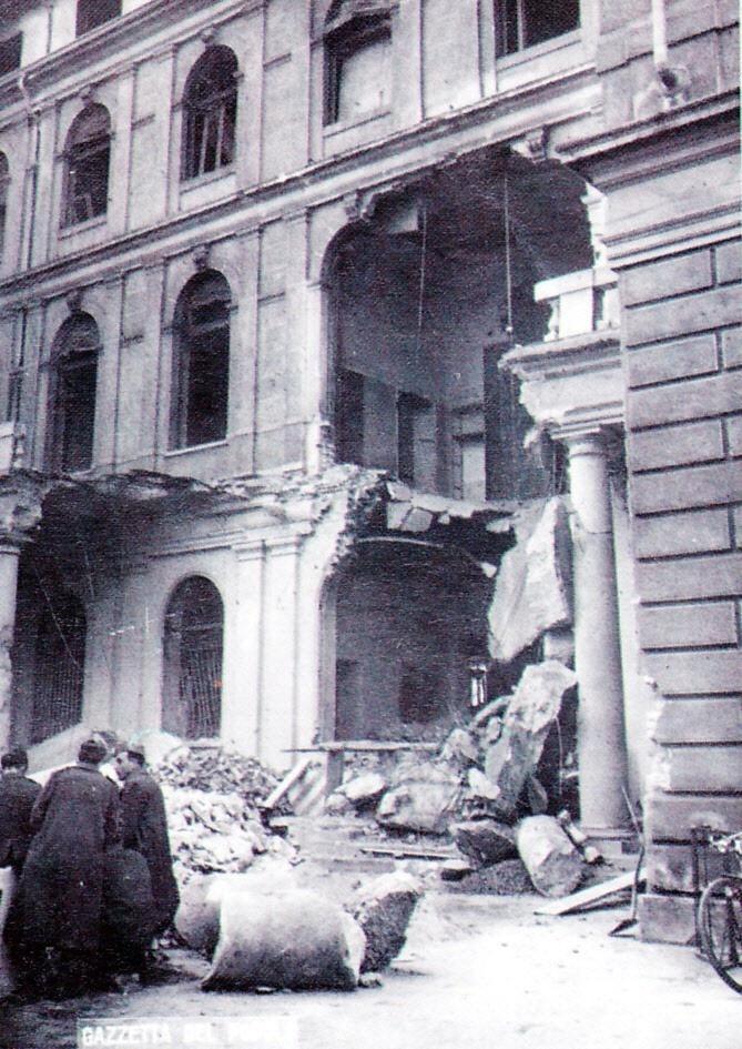 1945 - A Torino, nell'immediato dopoguerra, un terzo delle abitazioni era distrutto o lesionato