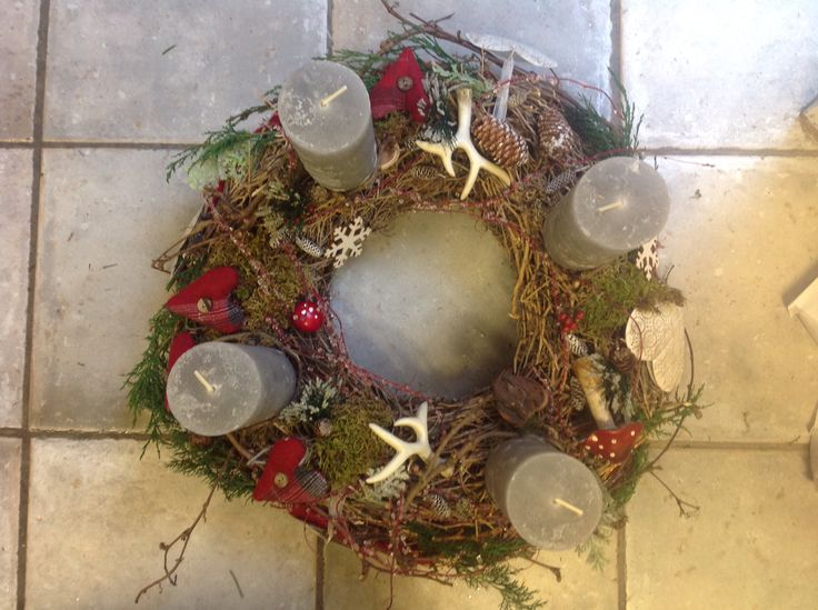 Advent wreath made by our self...als all of them which we sold