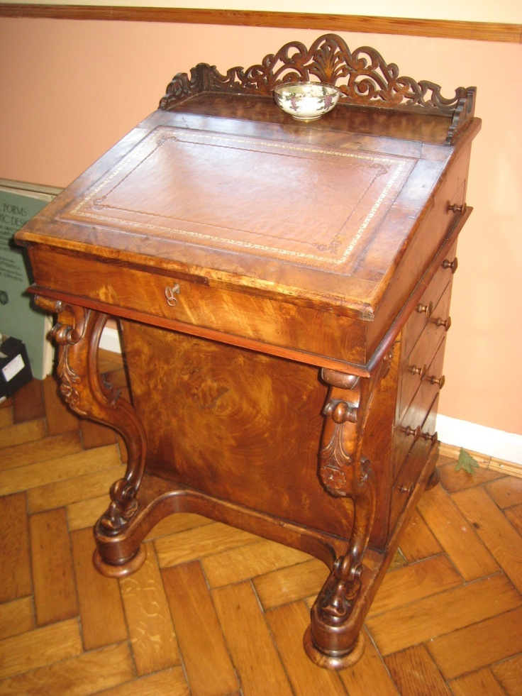 VICTORIAN BURR WALNUT DAVENPORT DESK SECRET DRAW BIRDSEYE MAPLE INTERIOR |  eBay - 29 Best Devonport Desk Images On Pinterest Antique Desk, Antique