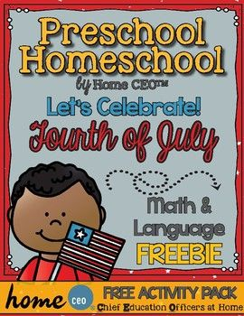 July Fourth preschool activity pack freebie to supplement for your July 4th activities! Contains two language and three math activities (in color and black and white) and nine full color USA fact cards from our USA unit. Enjoy! WHAT'S INCLUDED -American Symbols Say and Trace -Constitution Letter