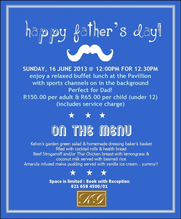 Spoil dad for Father's Day! Facebook page : https://www.facebook.com/photo.php?fbid=523198897726711=a.138381942875077.21837.137273632985908=1