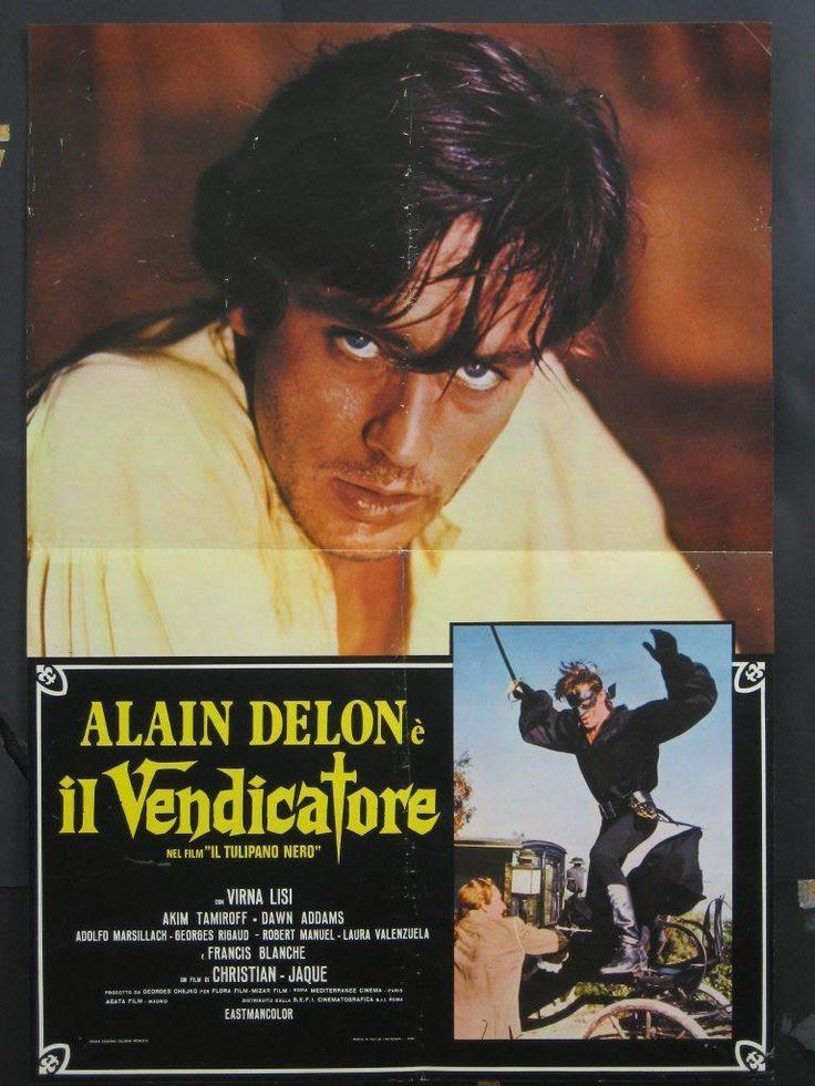 La Tulipe Noire Black Tulip Italian 1F Movie Poster Alain Delon Virna Lisi R72…