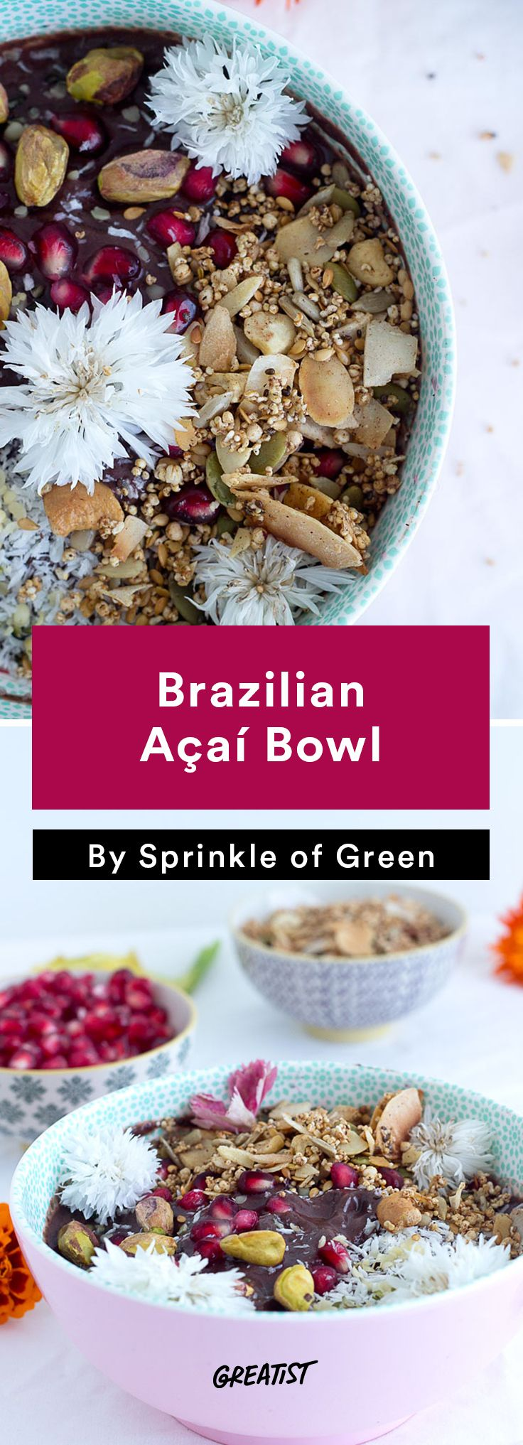 1. Brazilian Açaí Bowl #healthy #Brazilian #recipes http://greatist.com/eat/brazilian-recipes-that-are-surefire-winners