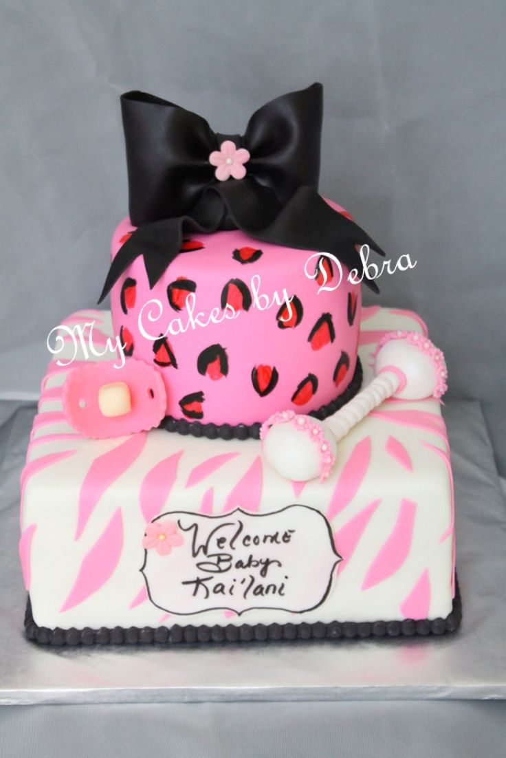68 Best Baby Shower Cakes Images On Pinterest Animal Print Cakes Safari  Girl Baby Shower Cake