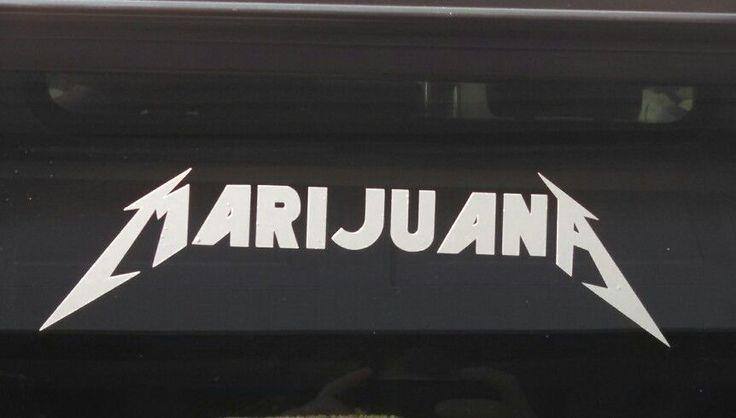 Marijuana decalmetallicapot leafdie cut vinyl stickercannabis home