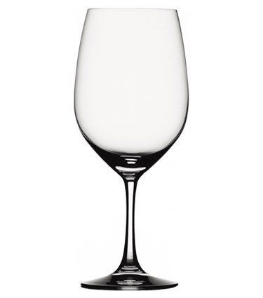 Spiegelau Vino Grande Bordeaux Wine Glass, Set of 6 by Spiegelau. $59.99. Lead-free crystal produced in Germany. 22 -ounce capacity. Thin, laser-cut and polished rims maximize drinking pleasure. Unique platinum finishing process increases durability and adds a brilliant shine. Generous size bowls and enhance aromatics and provide a stunning visual presence. Spiegelau Vino Grande wine glasses are designed to enhance a wine's flavor and bouquet. These durable machine...