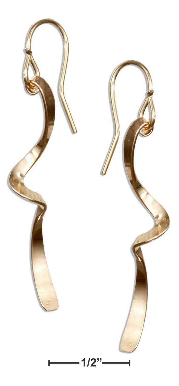 12 Karat Gold Filled Single Twist Dangle Earrings