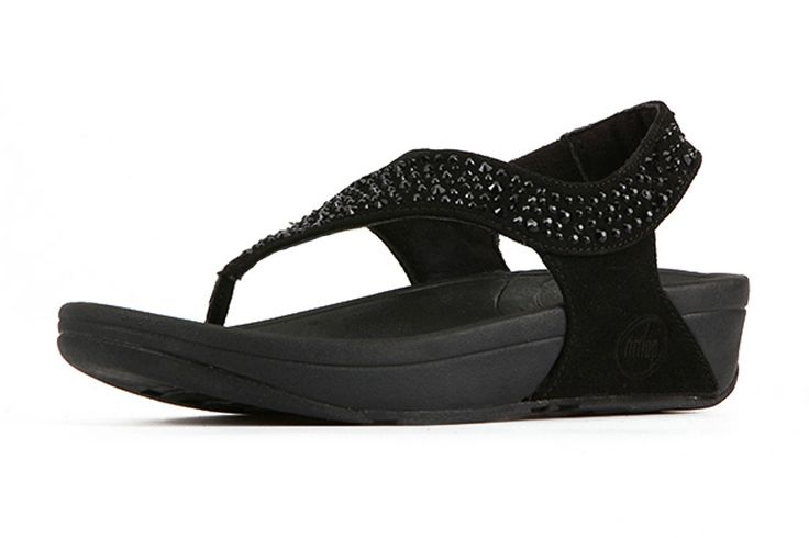 Fitflop S Shape Cristal Black Woman Sandals