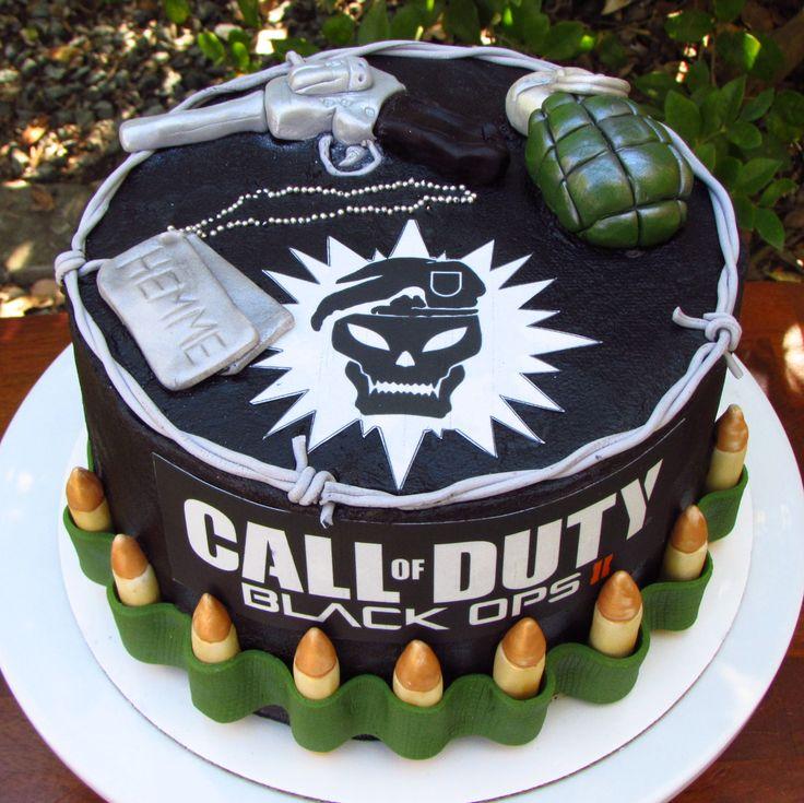 Call of duty cake for the boys pinterest