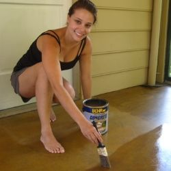How To Stain Concrete - Stained concrete is the way to go, really like it! Next time.