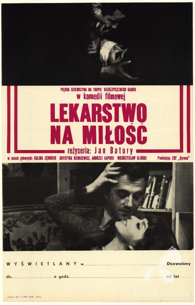 Lekarstwo na miłość/Cure for love - Polish comedy, 1966 #movies #posters #Polish #Poland #1960s