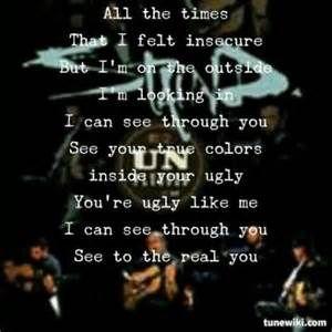 One of the best Staind lyrics!