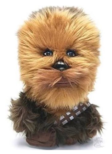 Chewbacca Chewie Talking Star Wars Plush Stuffed Animal Underground Toys New Chewbacca Chewie Talking Star Wars Plush Stuffed Animal Underground Toys Sound are amazing realistic Chewbacca Wookie noises About 6  8  tall New, purchased for resale by Keywebco Video inspected during shipping Shipped fast and free from the USA The item for sale is pictured and described on this page. The stock photo may include additional items for display purpose only - which will not be included. Packages may…