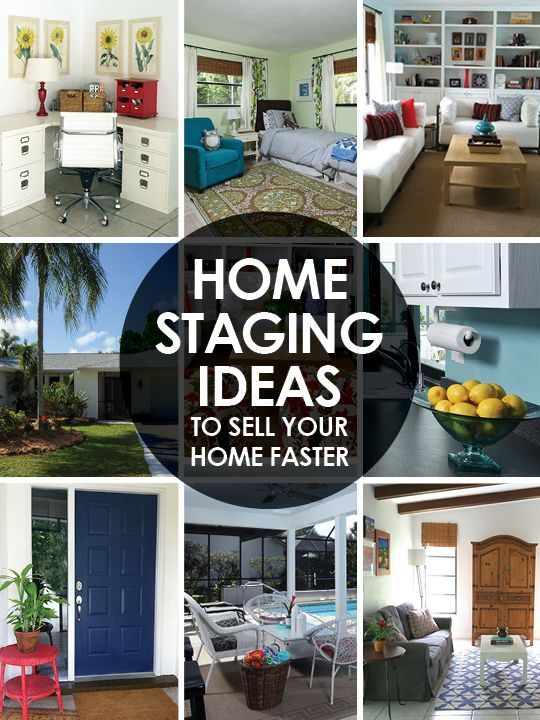 Sell your house faster with these home staging ideas. Before and after pictures. #staging  #realestate