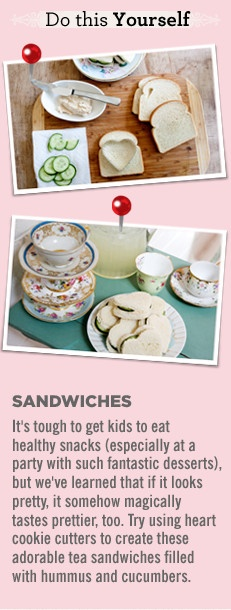 Tea cups and sandwiches