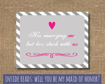 Maid of Honor / Ask Maid of Honour / Matron by RockCandieDesigns