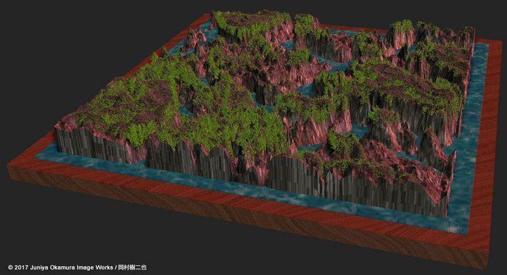 高速モデリング:海、岩、草Quick geometry modeling: Sea, rocks and grass