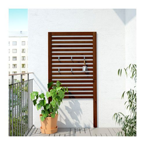 ÄPPLARÖ Wall panel, outdoor, brown stained brown