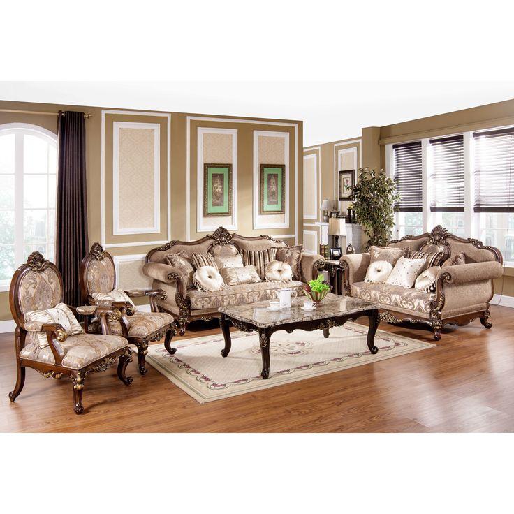 Traditional Sofa And Chair Set