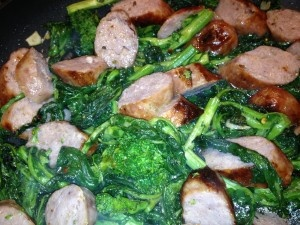 Broccoli Rabe with Rigatoni and Sausage... Easy and delicious!